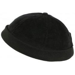 Bonnet Docker Velours Noir en Coton Chapelier Hodack BONNETS Léon montane