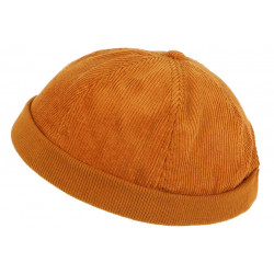 Bonnet Docker Velours Orange en Coton Chapelier Hodack BONNETS Léon montane