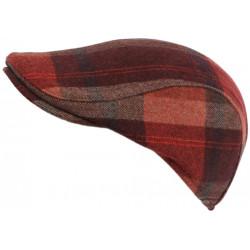 Casquette Plate Rouge et Orange en Laine Tradition Mode Anglaise Huky CASQUETTES Léon montane