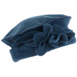 Bonnet Beret Femme Bleu Toque en Polaire Deperlante Qualite Chapeliere Nylia CHAPEAUX Léon montane