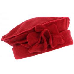 Bonnet Beret Femme Rouge Toque en Polaire Deperlante Qualite Chapeliere Nylia CHAPEAUX Léon montane