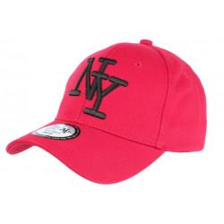 Casquette NY Rouge et Noire Fashion Visiere Baseball Stazky CASQUETTES Hip Hop Honour