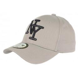 Casquette NY Grise et Noire Tendance Visiere Baseball Stazky CASQUETTES Hip Hop Honour