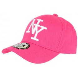 Casquette NY Rose et Blanche Fashion Visiere Baseball Stazky CASQUETTES Hip Hop Honour