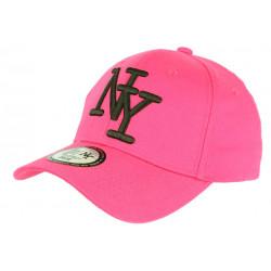 Casquette Enfant Rose et Noire NY Baseball Wazzy de 7 à 11 ans Casquette Enfant Hip Hop Honour