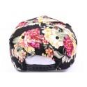 Casquette Snapback JBB couture Noir et florale