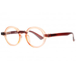 Lunettes Loupe Rondes Oranges Transparentes Fantaisies Gony Lunettes Loupes New Time