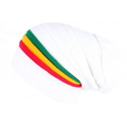 Bonnet Rasta Blanc Style Jamaïque Tendance et Classe en Laine BONNETS Nyls Création
