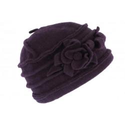 Chapeau Laine Violette Beret Femme Tendance Bonnet Toque Hiver Vella CHAPEAUX Léon montane