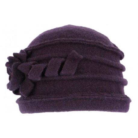 Hiver Casquette Bonnet oreilles rabats Bonnet Laine Taille XL laine Violet violet