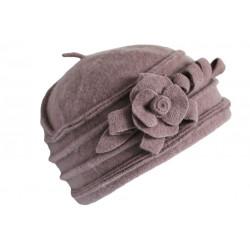 Chapeau Femme Laine Rose Taupe Beret Tendance Bonnet Hiver Vella CHAPEAUX Léon montane