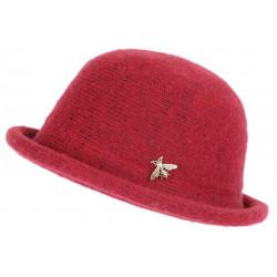 Chapeau Laine Femme Rouge Hiver Classe Chaud Design Beret Cloche Apis CHAPEAUX Léon montane