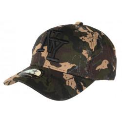 Casquette NY Militaire Marron et Noire style Tags Streetwear Baseball Paynter CASQUETTES Hip Hop Honour