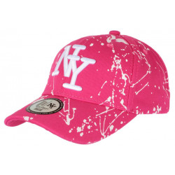 Casquette NY Rose et Blanche style Original Tags Streetwear Baseball Paynter CASQUETTES Hip Hop Honour