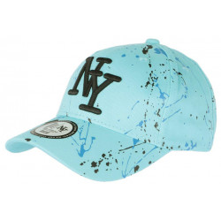 Casquette NY Bleue et Noire Design Original Tags Streetwear Baseball Paynter CASQUETTES Hip Hop Honour