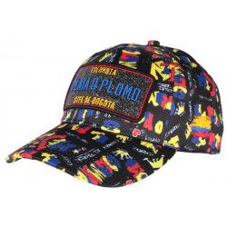 Casquette Plata o Plomo Noire et Bleue Colombia Baseball Fashion CASQUETTES SKR