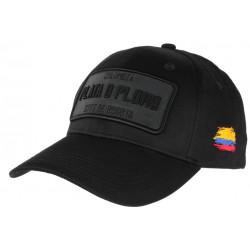 Casquette Plata o Plomo Noir Mat Colombia Bogota Baseball CASQUETTES SKR