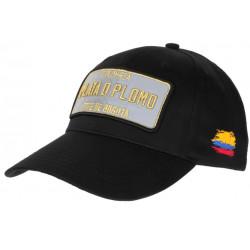 Casquette Plata o Plomo Noir Patch Reflechissant Colombia Bogota Baseball CASQUETTES SKR