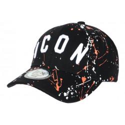 Casquette ICON Orange et Noire Taguee Streetwear Baseball CASQUETTES Hip Hop Honour