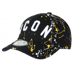 Casquette ICON Jaune et Noire Taguee Streetwear Baseball CASQUETTES Hip Hop Honour