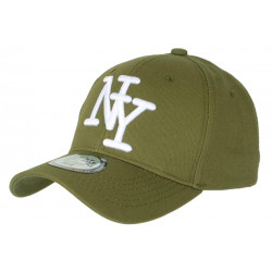 Casquette NY Verte Broderie 3D Blanche Tendance Visiere Baseball Stazky CASQUETTES Hip Hop Honour