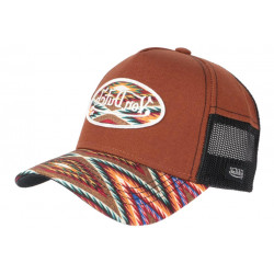 Casquette Von Dutch Marron et Multicolore Originale Baseball Custom Atru CASQUETTES VON DUTCH