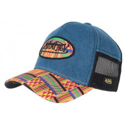 Casquette Von Dutch Bleu Denim et Jaune Originale Baseball Custom Atru CASQUETTES VON DUTCH