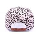 Casquette Snapback JBB couture blanche leopard