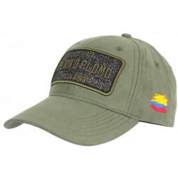 Casquette Plata o Plomo Verte Patch Strass Tissu Daim Colombia Baseball CASQUETTES SKR