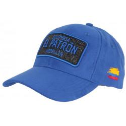 Casquette El Patron Bleue et Noire Strass Style Daim Medellin Colombia Baseball CASQUETTES SKR