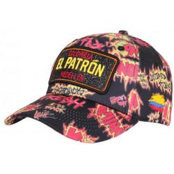 Casquette El Patron Noire et Jaune Medellin Streetwear Baseball Colombia CASQUETTES SKR