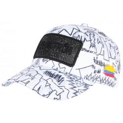 Casquette El Patron Blanche et Noire Streetwear Colombia Medellin Baseball CASQUETTES SKR