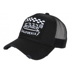 Casquette Von Dutch Noire Calfornia Race Baseball Trucker CASQUETTES VON DUTCH