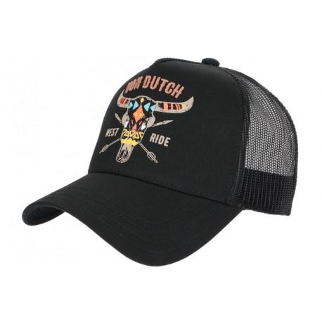 Casquette Von Dutch Noire West Ride Baseball Trucker CASQUETTES VON DUTCH
