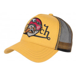 Casquette Von Dutch Jaune Bird Fashion Baseball Trucker CASQUETTES VON DUTCH