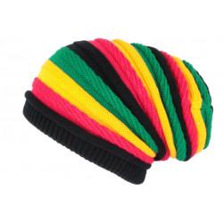 Bonnet Rasta Rouge Jaune Vert Jamaicain Laine fashion Jack BONNETS Nyls Création