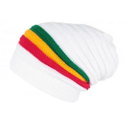 Bonnet Long Blanc Style Jamaïque Tendance et Classe en Laine Clify BONNETS Nyls Création