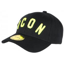 Casquette ICON Noire et Jaune FLuo Streetwear Baseball Fyck CASQUETTES Hip Hop Honour