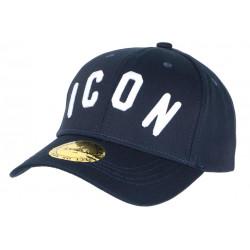 Casquette ICON Bleue et Blanche Streetwear Baseball Fyck CASQUETTES Hip Hop Honour