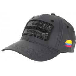 Casquette Plata o Plomo Grise Toile Reflechissante Strass Noir Colombia Baseball CASQUETTES SKR
