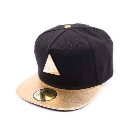 Casquette Snapback JBB couture noir visière dorée