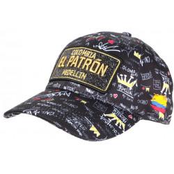 Casquette El Patron Noire et Dorée Strass Streetwear Colombia Medellin Baseball CASQUETTES SKR