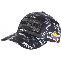 Casquette Plata o Plomo Noire et Grise Strass Streetwear Colombia Baseball CASQUETTES SKR