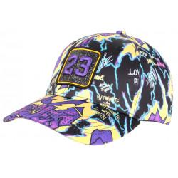 Casquette 23 Violette et Noire Print Streetwear Strass Classe Baseball CASQUETTES SKR