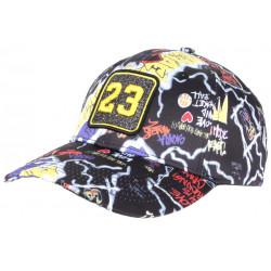 Casquette 23 Noire et Jaune Print Streetwear Strass Fashion Baseball CASQUETTES SKR
