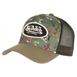 Casquette Von Dutch Verte Design Original Custom Baseball Tat CASQUETTES VON DUTCH