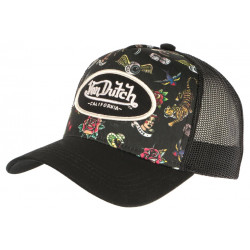 Casquette Von Dutch Noire Design Original Custom Trucker Baseball Tat CASQUETTES VON DUTCH