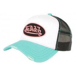 Casquette Von Dutch Bleu et Rose Fashion Filet Noir Baseball Summer CASQUETTES VON DUTCH