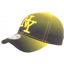 Casquette NY Jaune et Noire Classe et Tendance Baseball Renbo CASQUETTES Hip Hop Honour