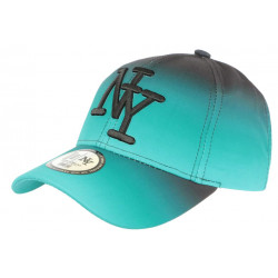 Casquette NY Turquoise et Noire Originale Fashion Baseball Renbo CASQUETTES Hip Hop Honour
